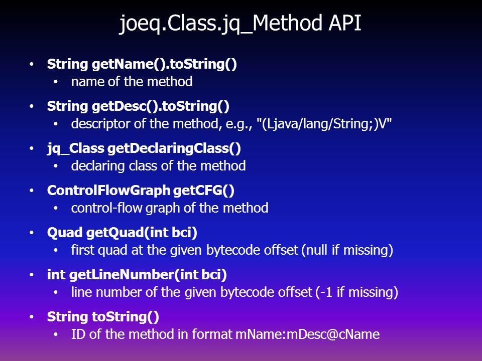 joeq.Class.jq_Method API