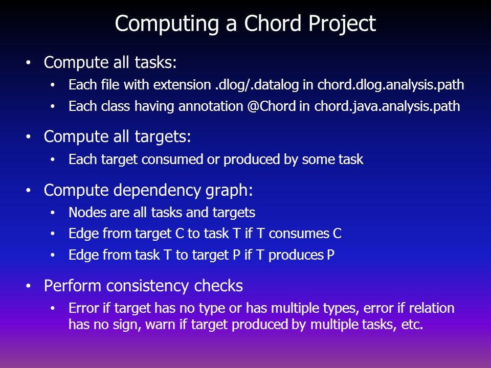Computing a Chord Project
