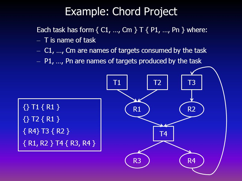 Example: Chord Project