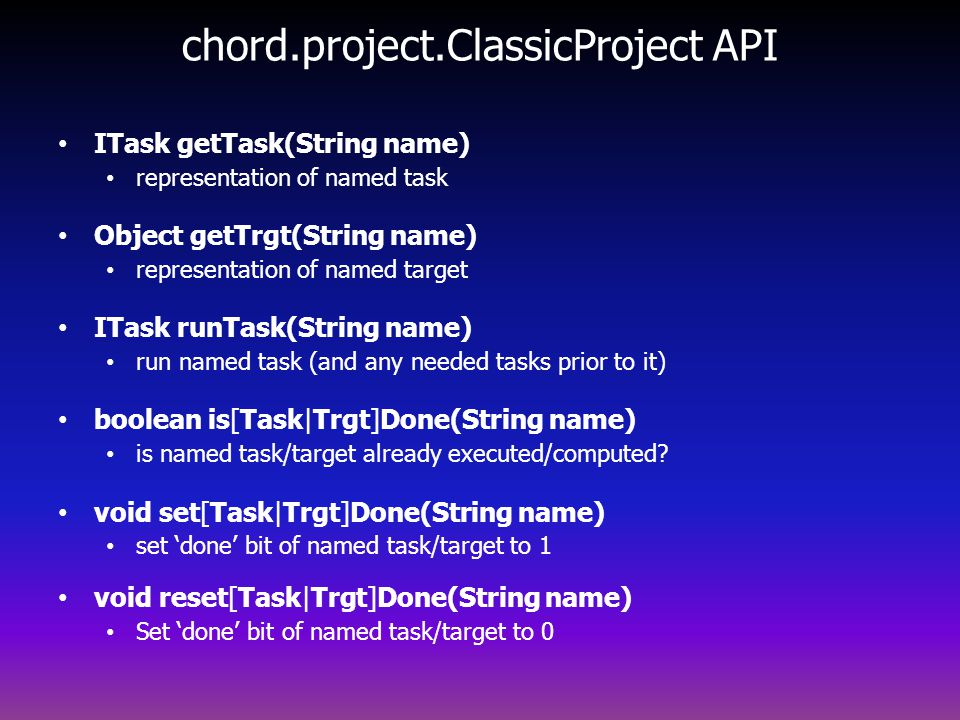 chord.project.ClassicProject API