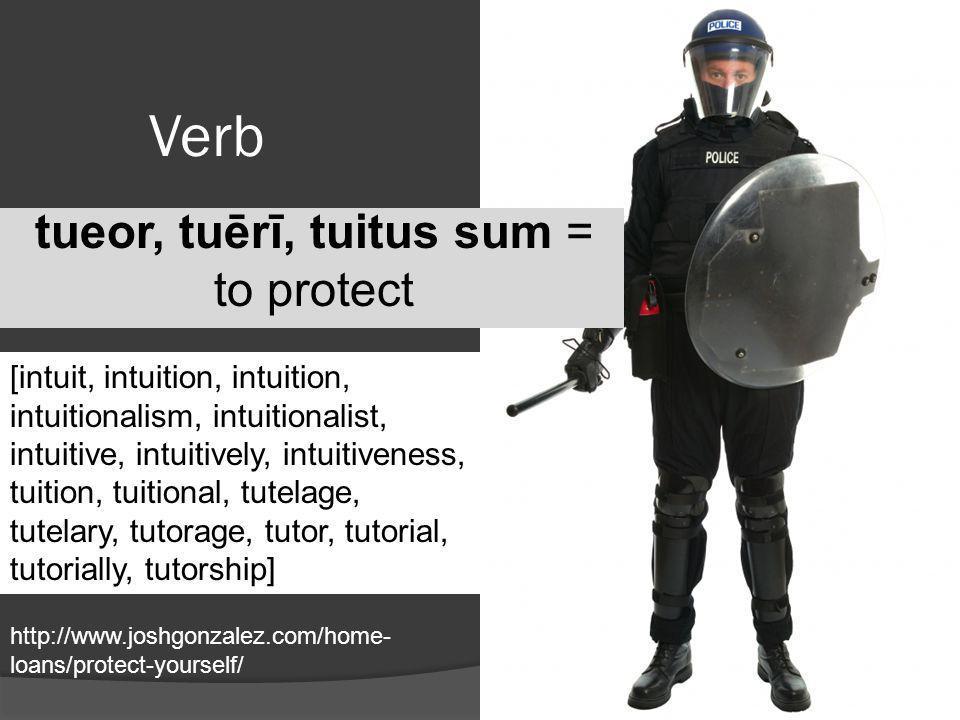 tueor, tuērī, tuitus sum = to protect