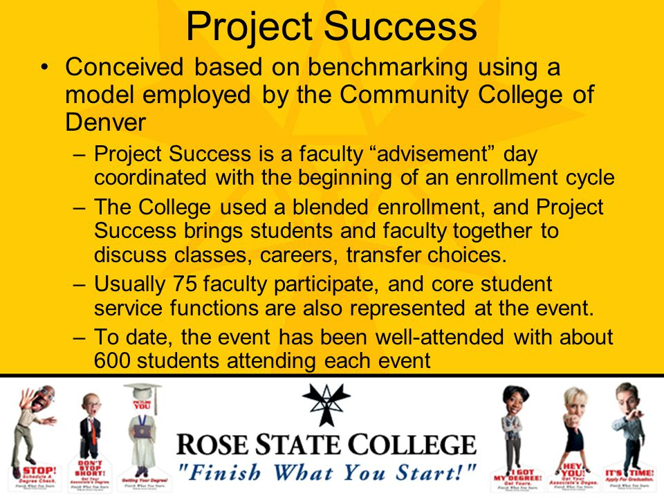 Project Success Conceived based on benchmarking using a model employed by the Community College of Denver.