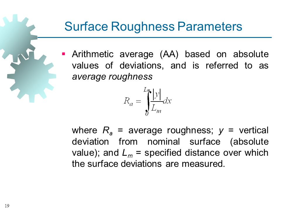 Surface Roughness Parameters