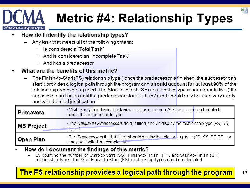 Metric #4: Relationship Types