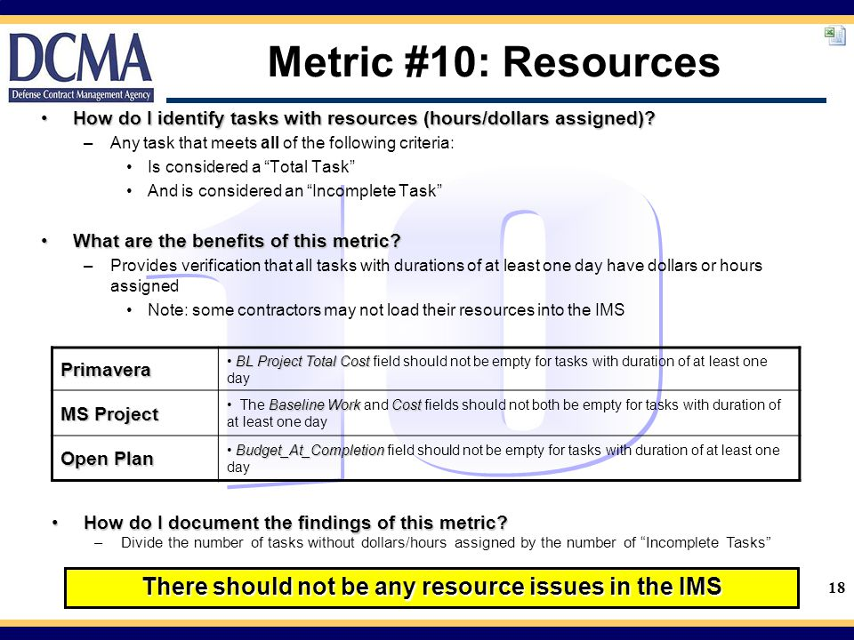 There should not be any resource issues in the IMS