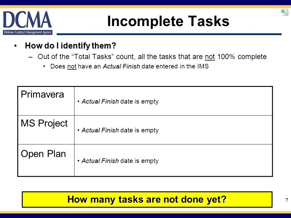 How many tasks are not done yet