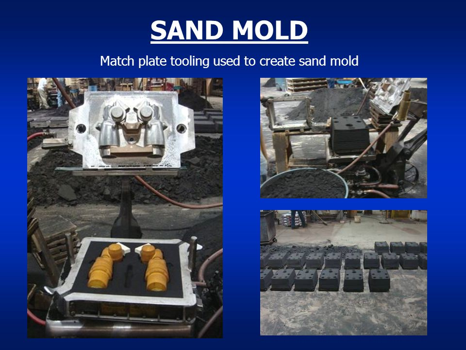 SAND MOLD Match plate tooling used to create sand mold