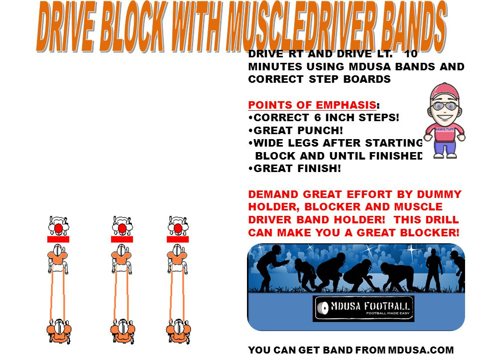 DRIVE BLOCK WITH MUSCLEDRIVER BANDS
