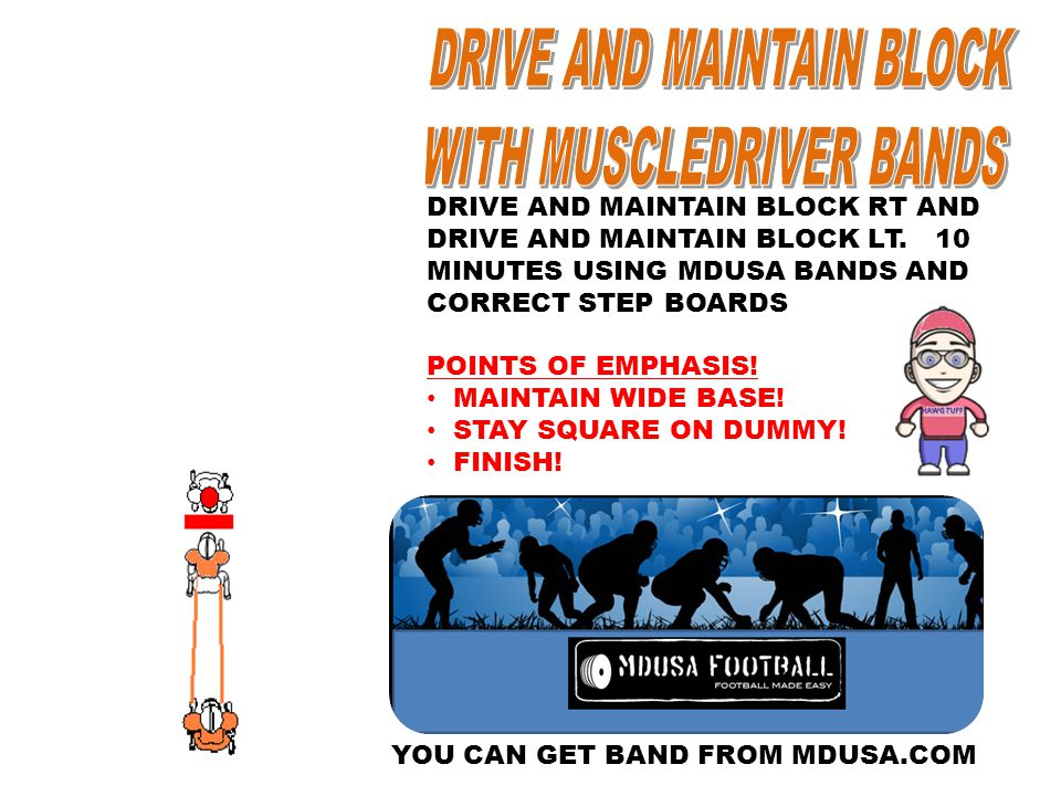 DRIVE AND MAINTAIN BLOCK WITH MUSCLEDRIVER BANDS