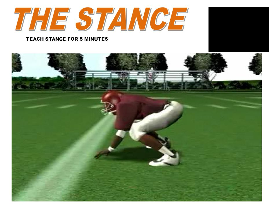 THE STANCE TEACH STANCE FOR 5 MINUTES