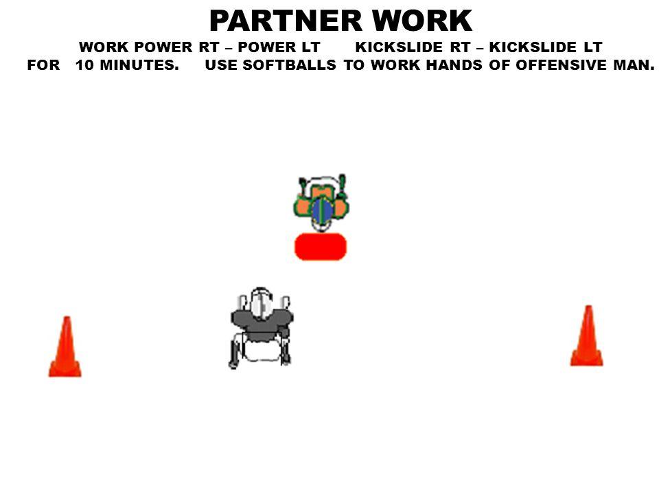 PARTNER WORK WORK POWER RT – POWER LT KICKSLIDE RT – KICKSLIDE LT