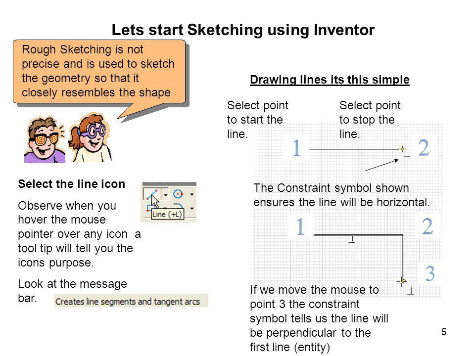 Lets start Sketching using Inventor