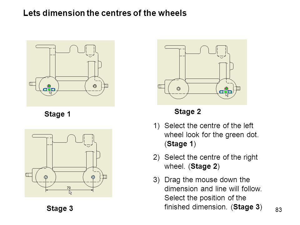 Lets dimension the centres of the wheels