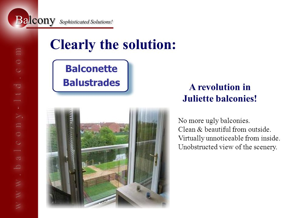 A revolution in Juliette balconies!