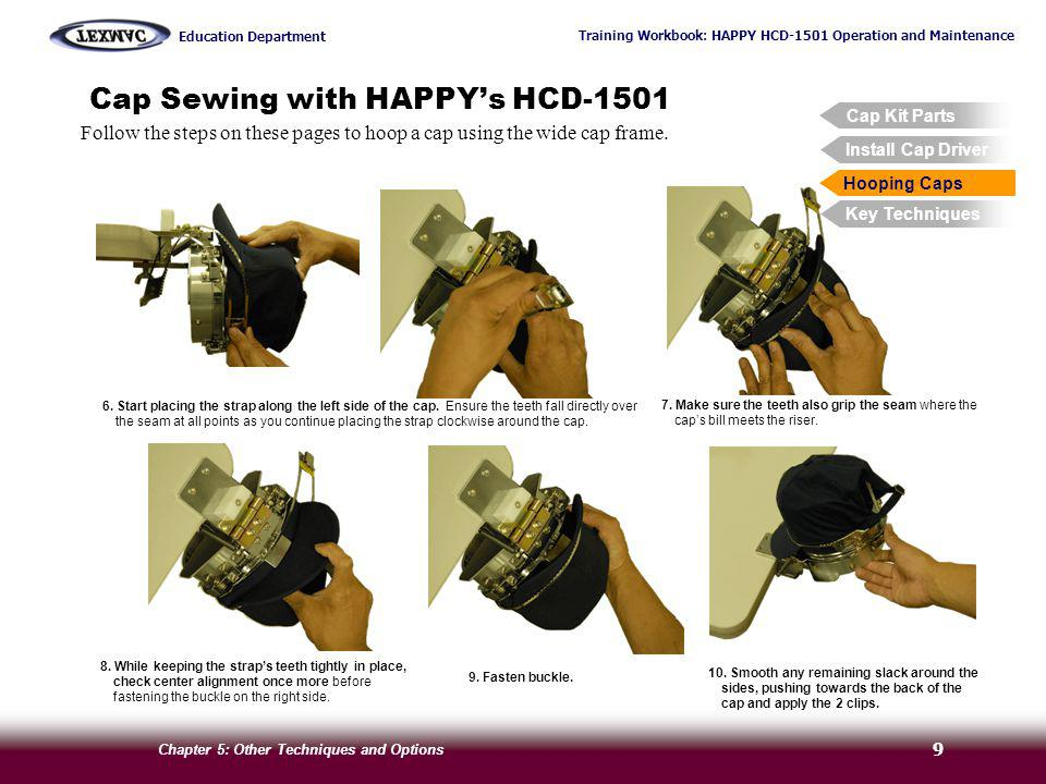 Cap Sewing with HAPPY's HCD-1501