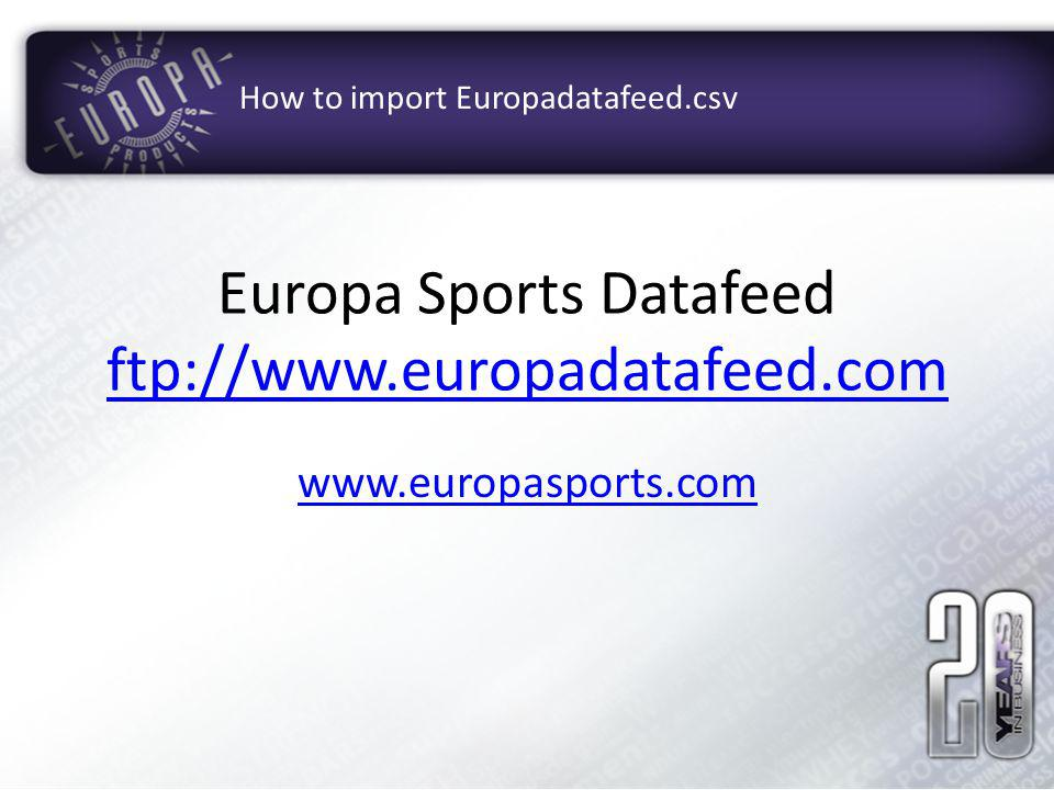Europa Sports Datafeed ftp://
