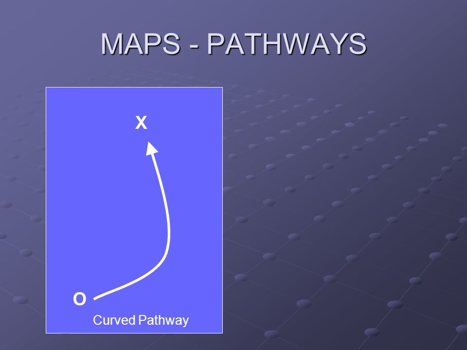 MAPS - PATHWAYS X O Curved Pathway