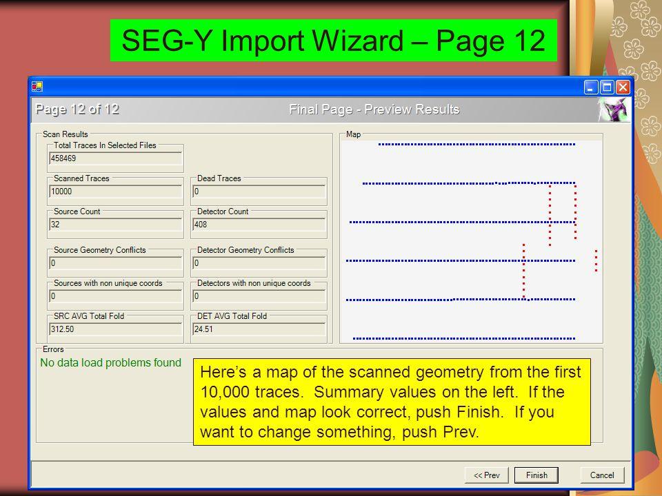 SEG-Y Import Wizard – Page 12