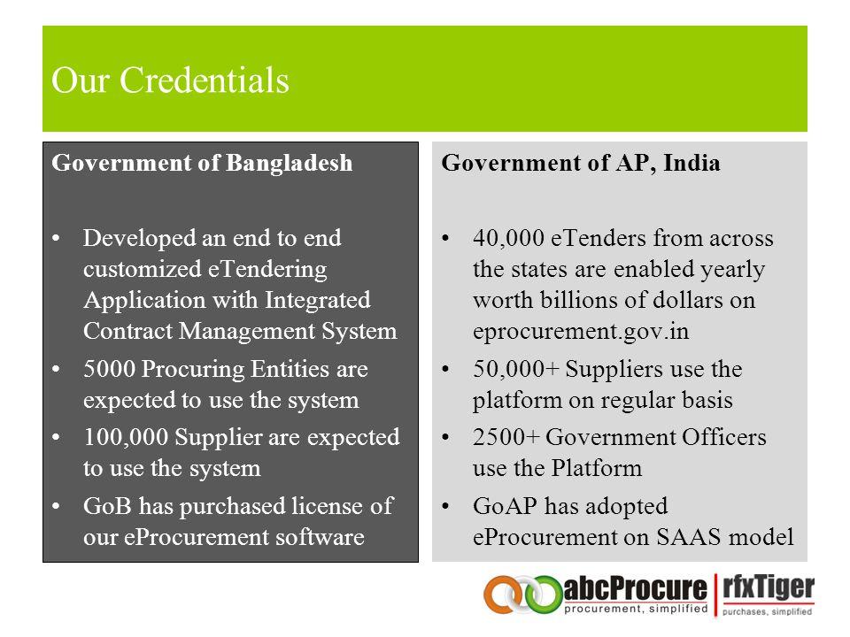 Our Credentials Government of Bangladesh