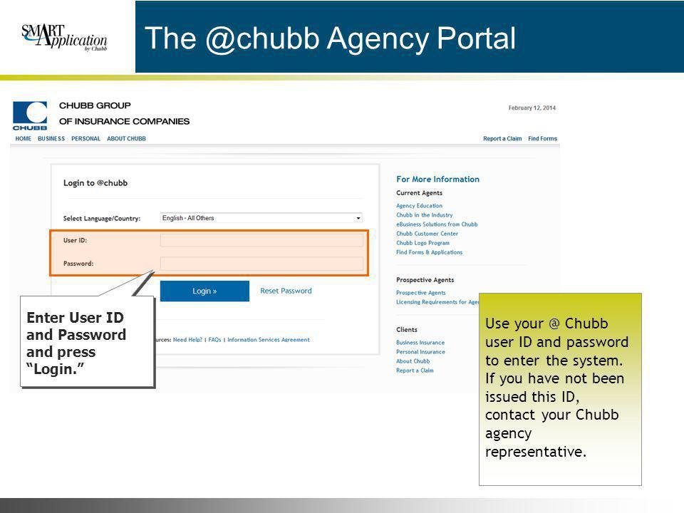 The @chubb Agency Portal