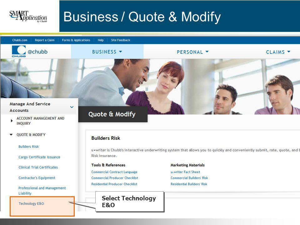 Business / Quote & Modify