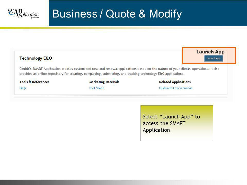 Business / Quote & Modify