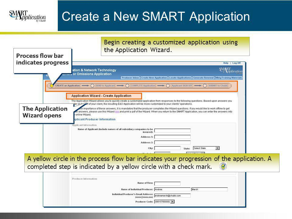 Create a New SMART Application