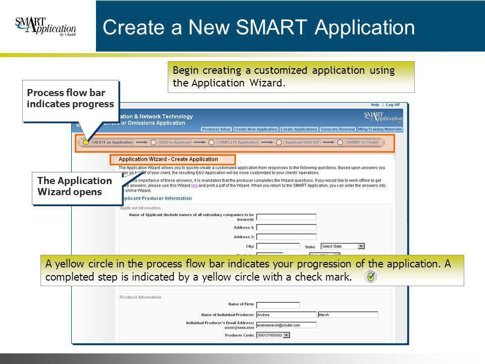 Create a New SMART Application