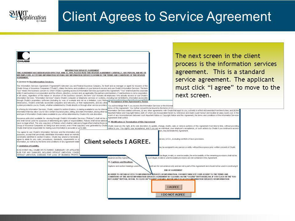 Client Agrees to Service Agreement