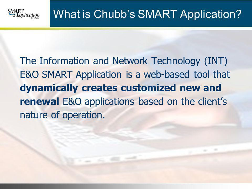 What is Chubb's SMART Application