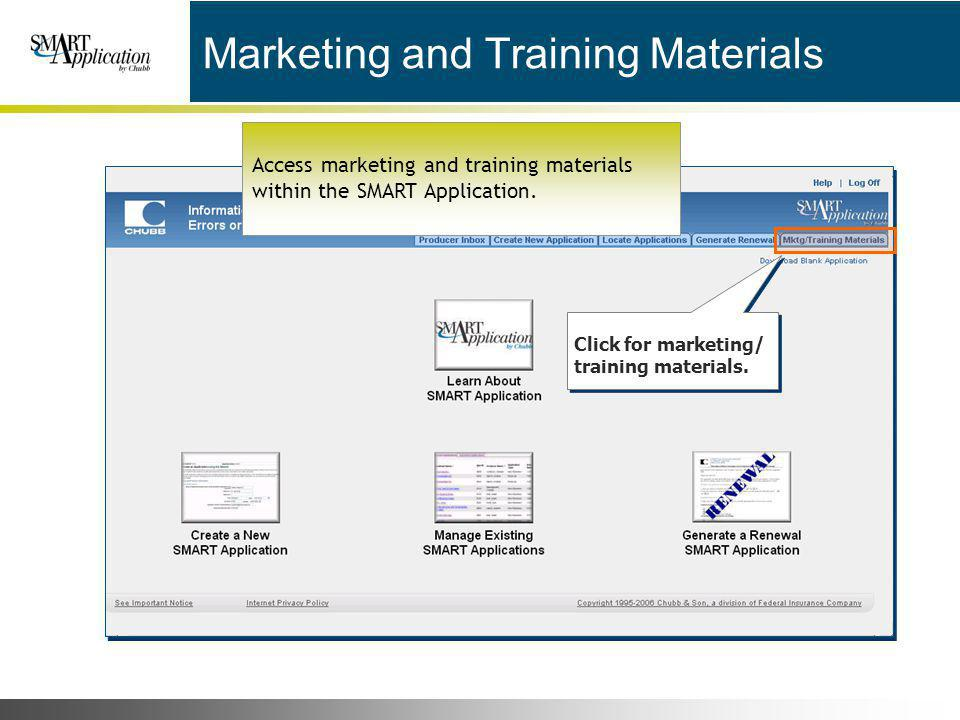 Marketing and Training Materials