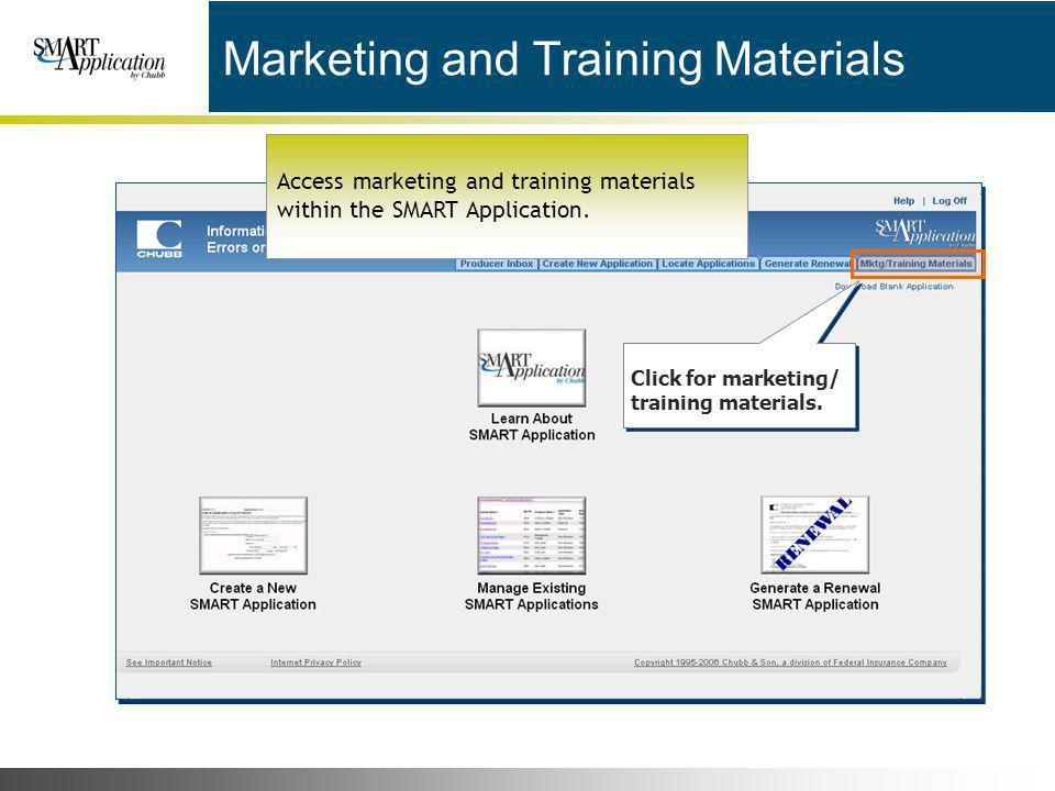 Marketing and Training Materials
