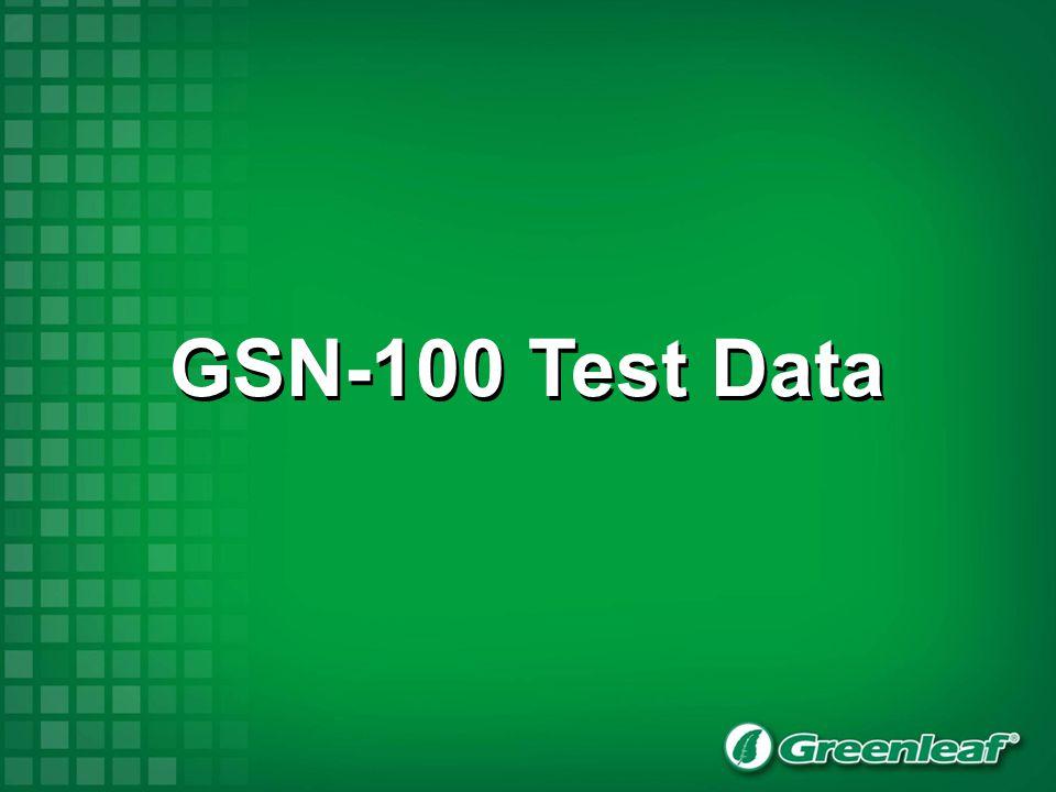 GSN-100 Test Data