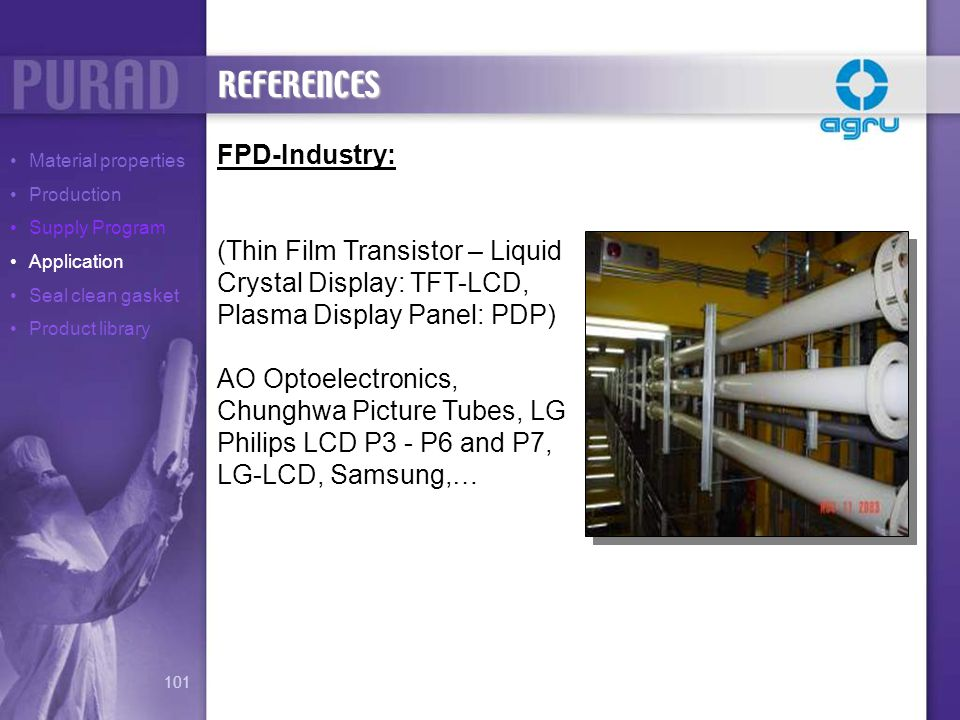 REFERENCES FPD-Industry: