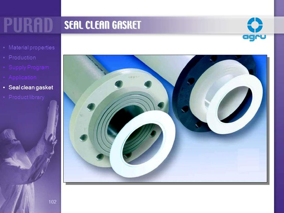 SEAL CLEAN GASKET Material properties Production Supply Program