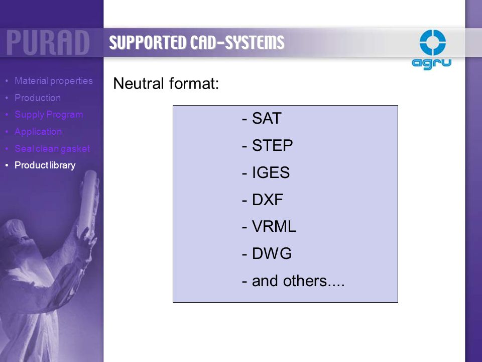SUPPORTED CAD-SYSTEMS