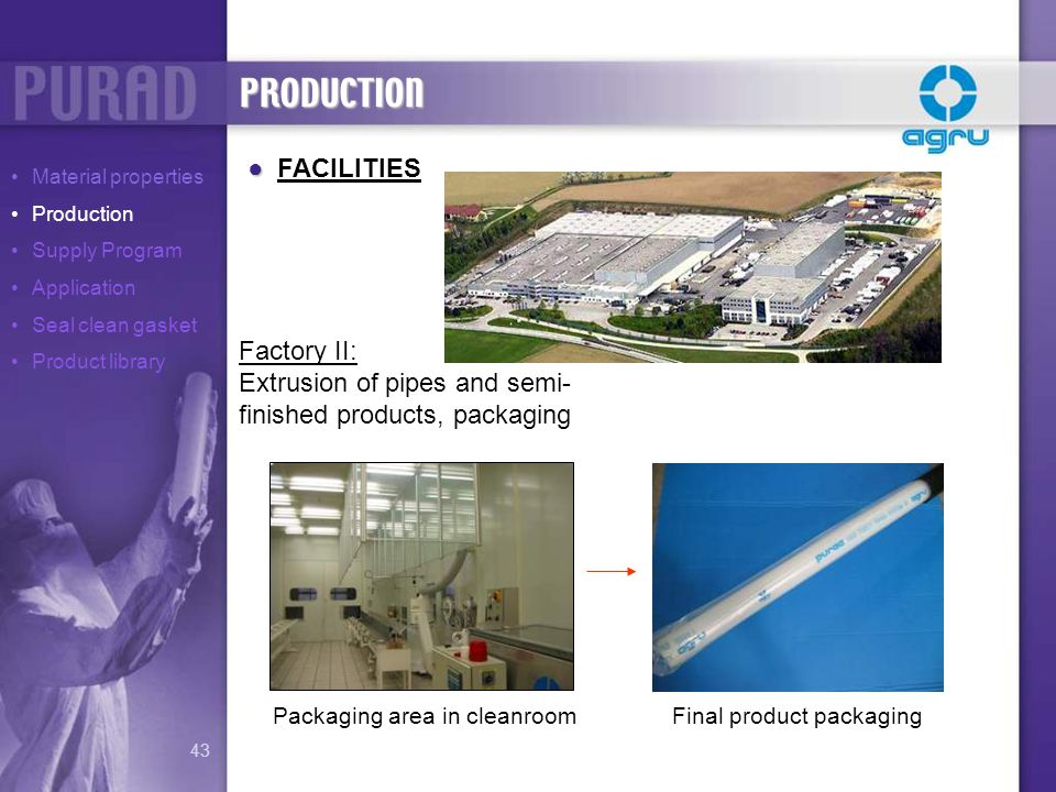 PRODUCTION FACILITIES Factory II: Extrusion of pipes and semi-