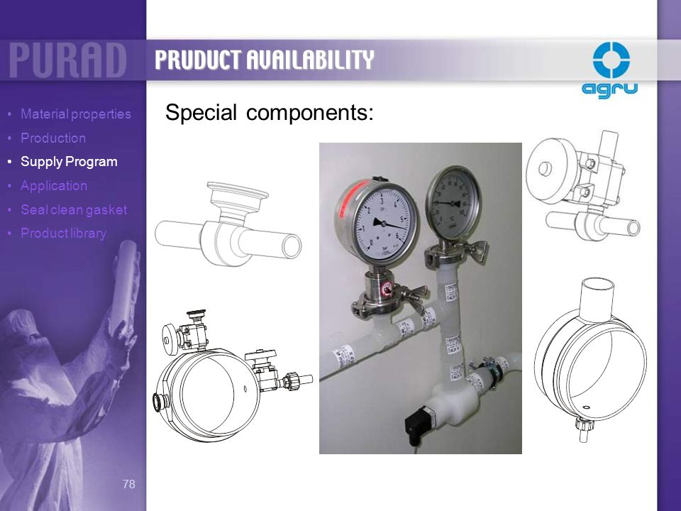 PRUDUCT AVAILABILITY Special components: Material properties