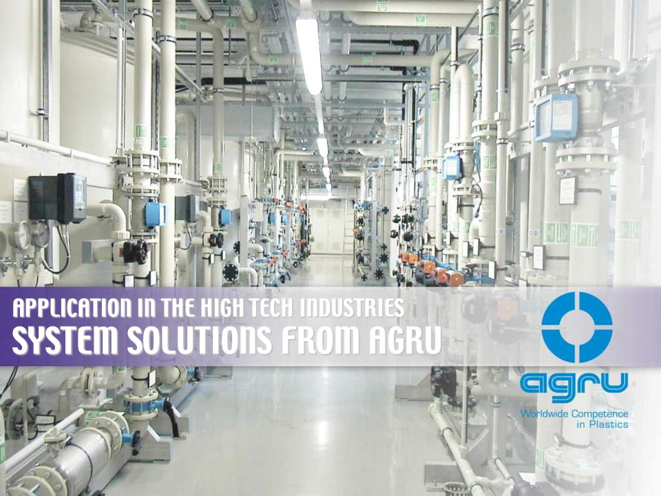 SYSTEM SOLUTIONS FROM AGRU