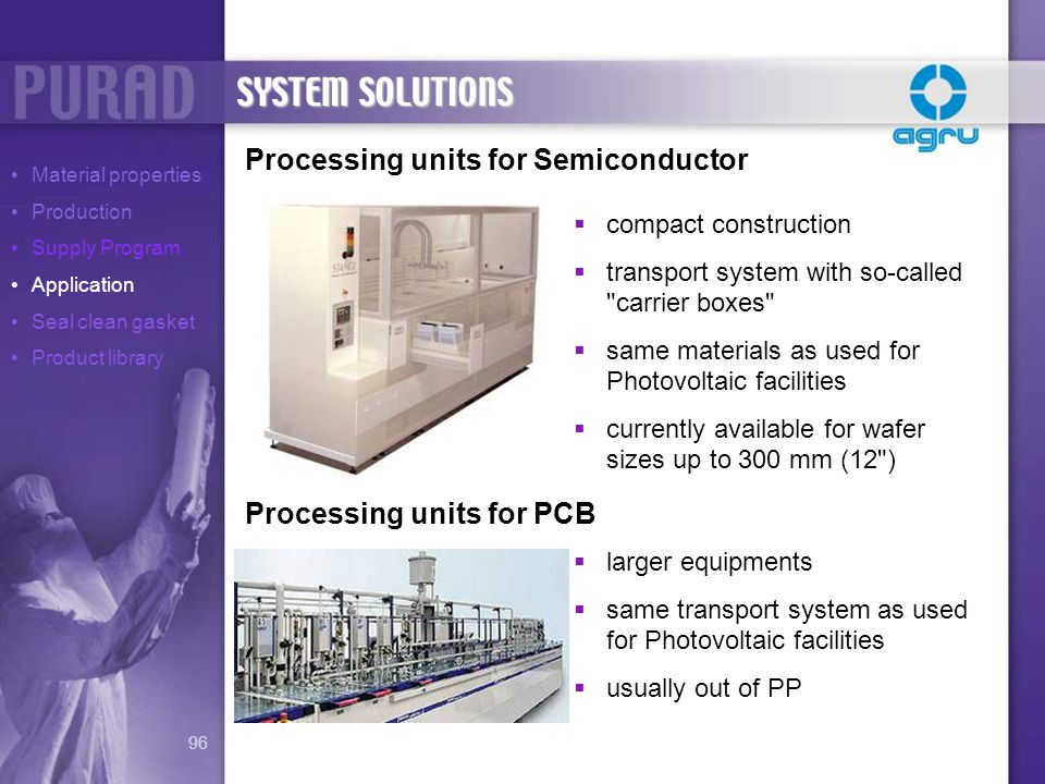SYSTEM SOLUTIONS Processing units for Semiconductor