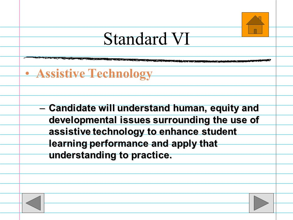 Standard VI Assistive Technology