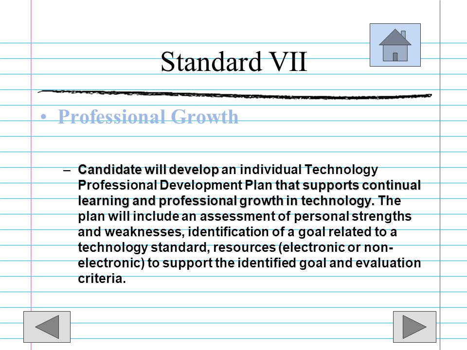 Standard VII Professional Growth