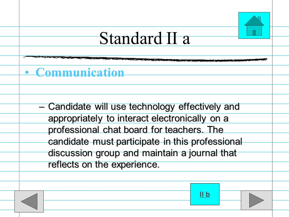 Standard II a Communication