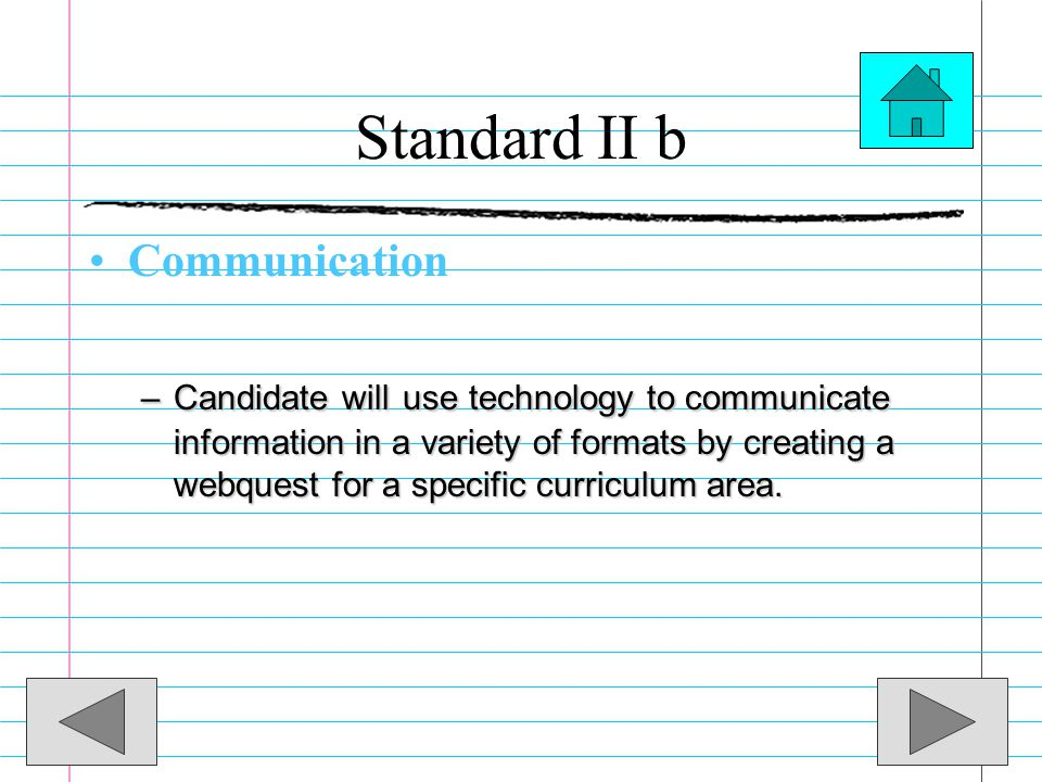 Standard II b Communication