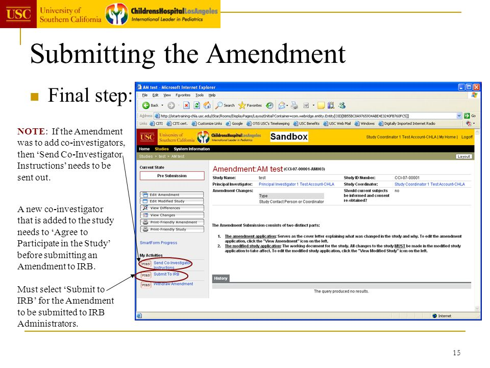 Submitting the Amendment