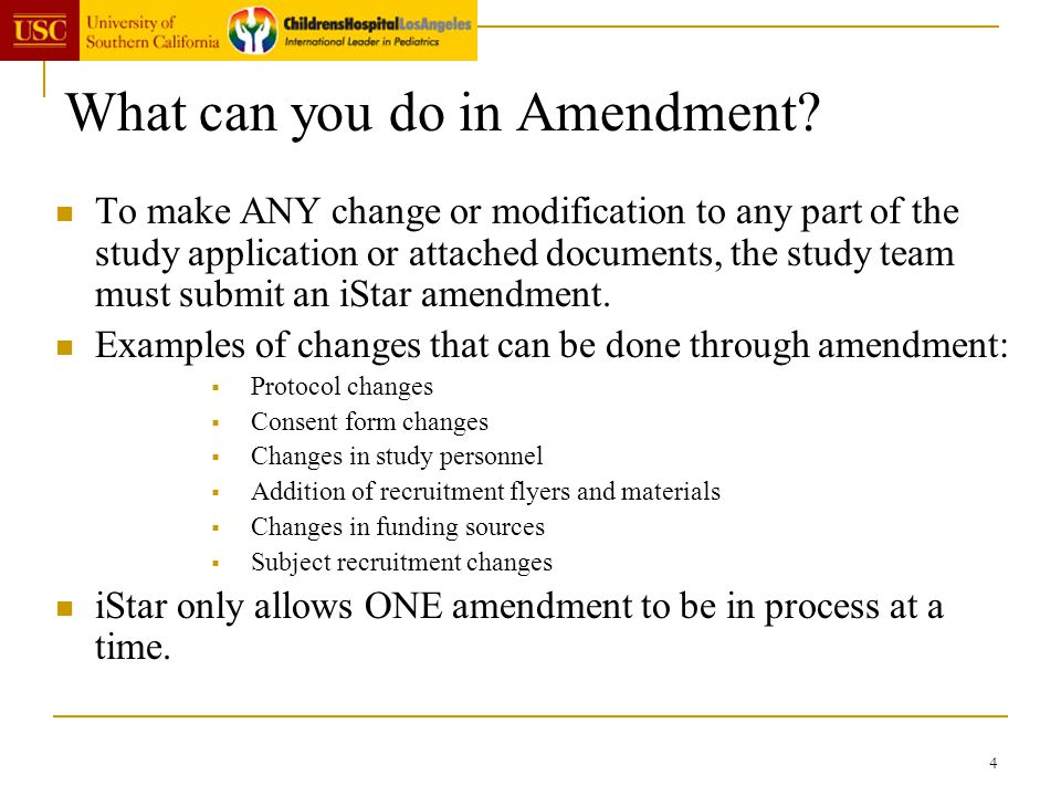 What can you do in Amendment