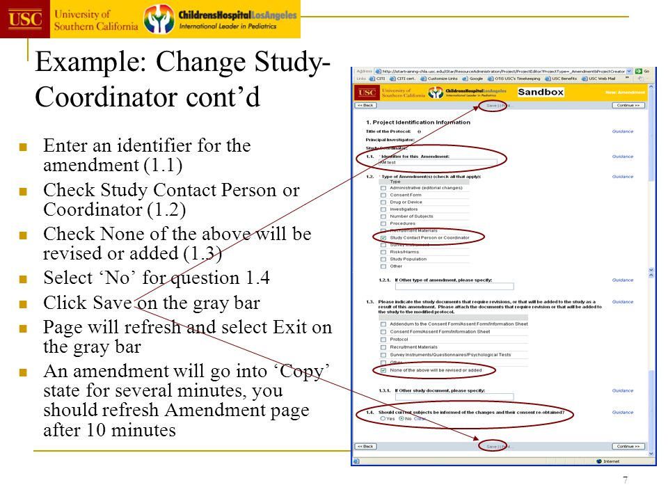 Example: Change Study-Coordinator cont'd