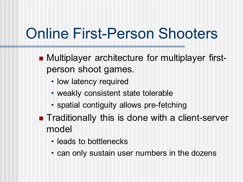Online First-Person Shooters