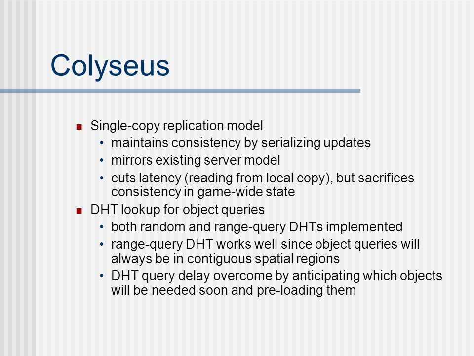 Colyseus Single-copy replication model