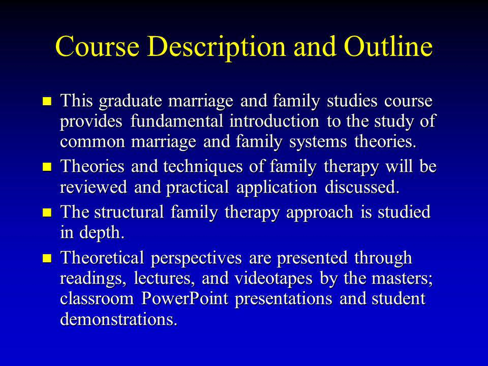 Course Description and Outline